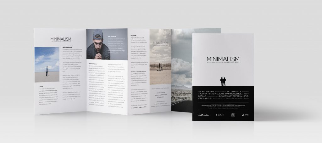 Minimalism Film Brochure by SPYR