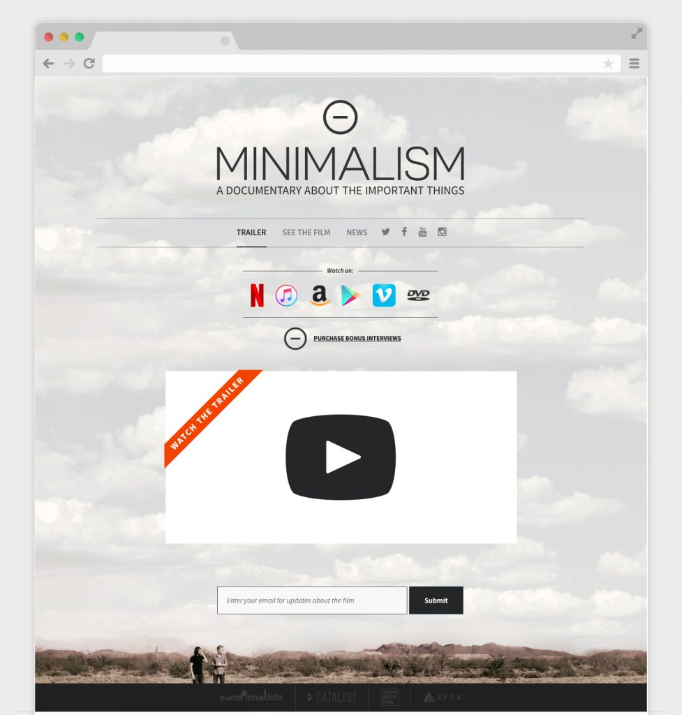 Minimalism Film Site by SPYR