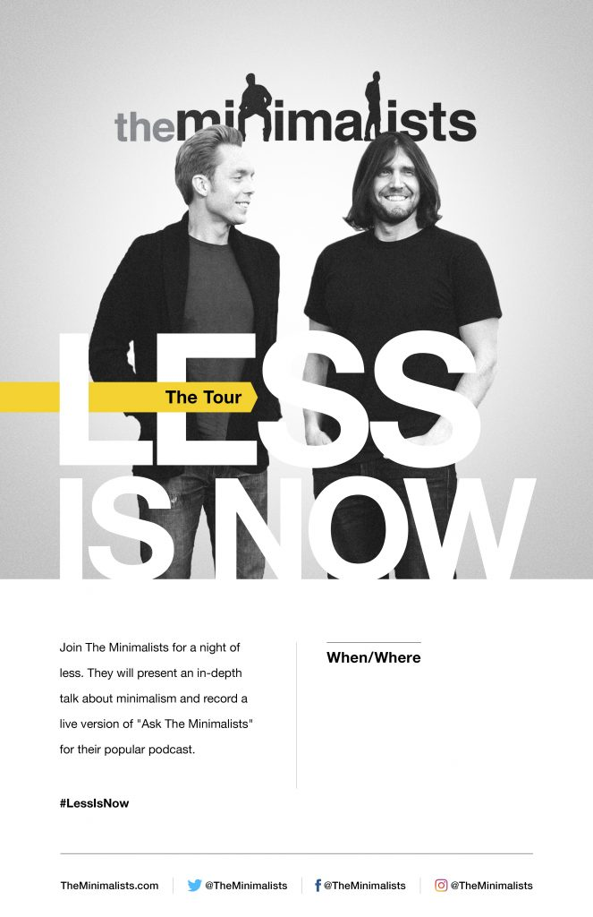 Less Is Now Tour Poster by SPYR